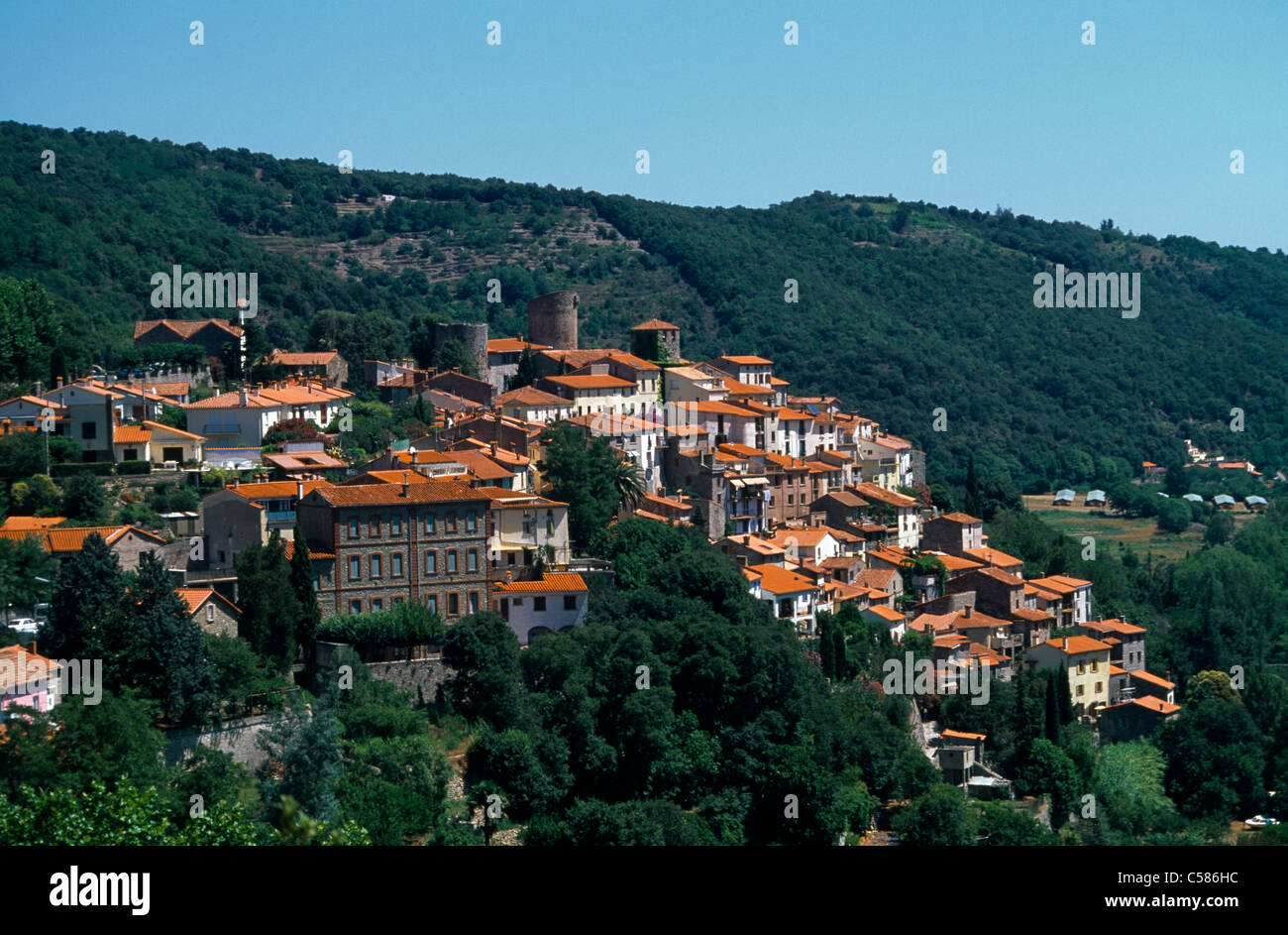 amelie les bains palalda france languedoc roussillon town in the stock photo 37674824 alamy. Black Bedroom Furniture Sets. Home Design Ideas