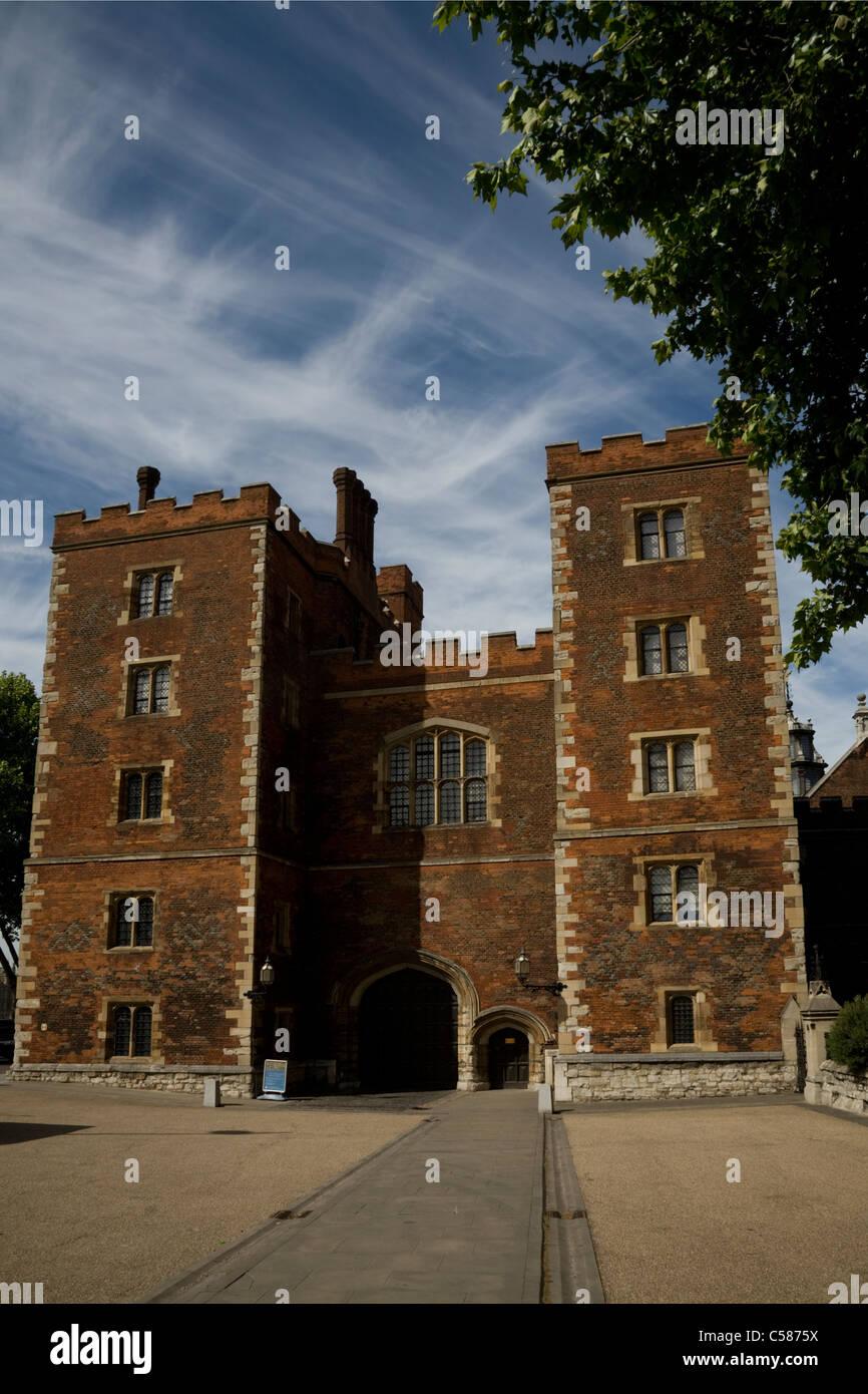lambeth palace london england - Stock Image