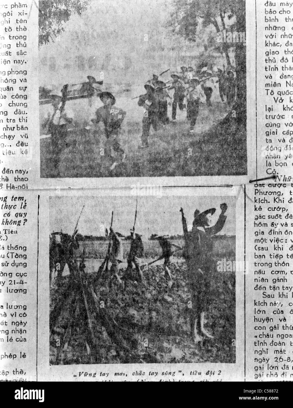 North Vietnamese Newspaper Vietnam War communist soldiers