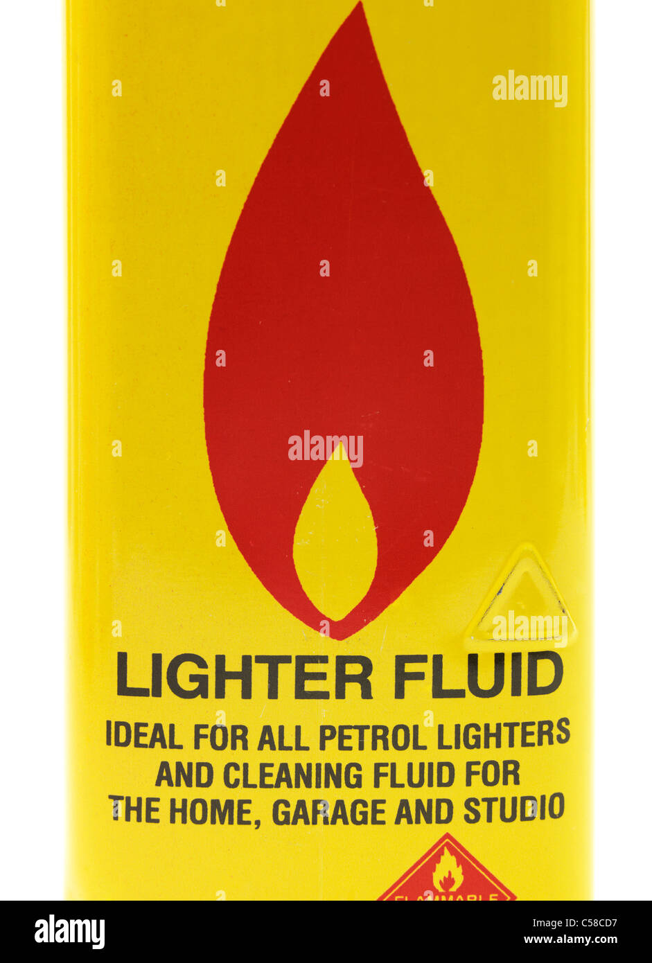 Can Of Lighter Fluid - Stock Image