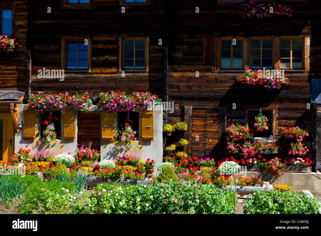 Geschinen, Switzerland, Europe, canton Valais, house, home