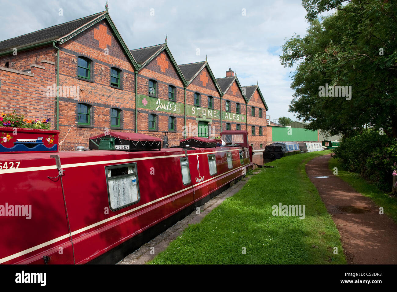 joules stone ales brewery, trent and mersey canal, staffordshire, england - Stock Image