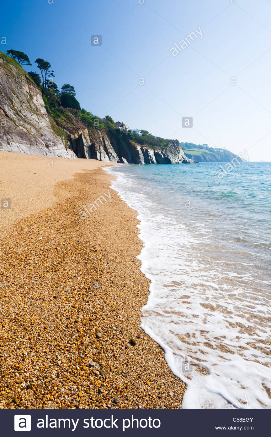 Landcombe Cove, near Dartmouth, South Hams district, Devon, England. - Stock Image
