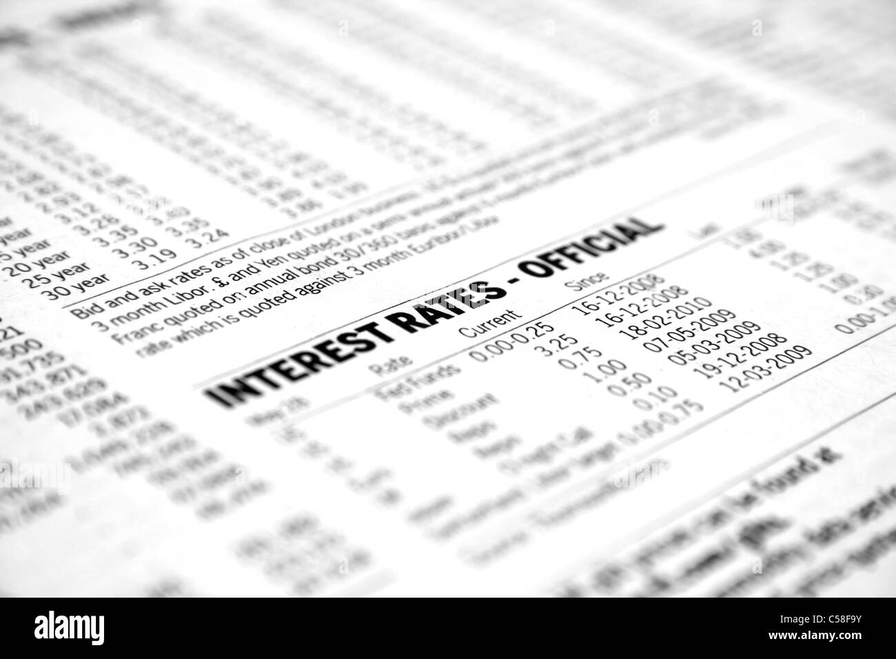 Interest rates - Stock Image