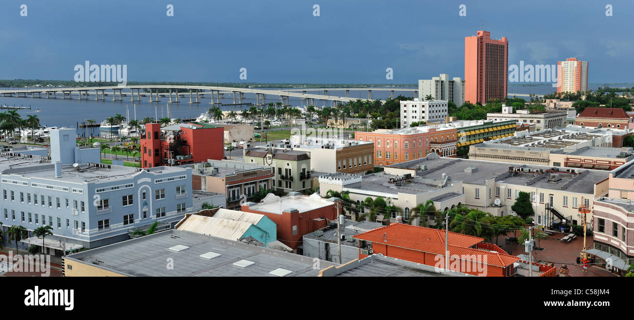 Downtown Fort Myers Florida Usa United States America