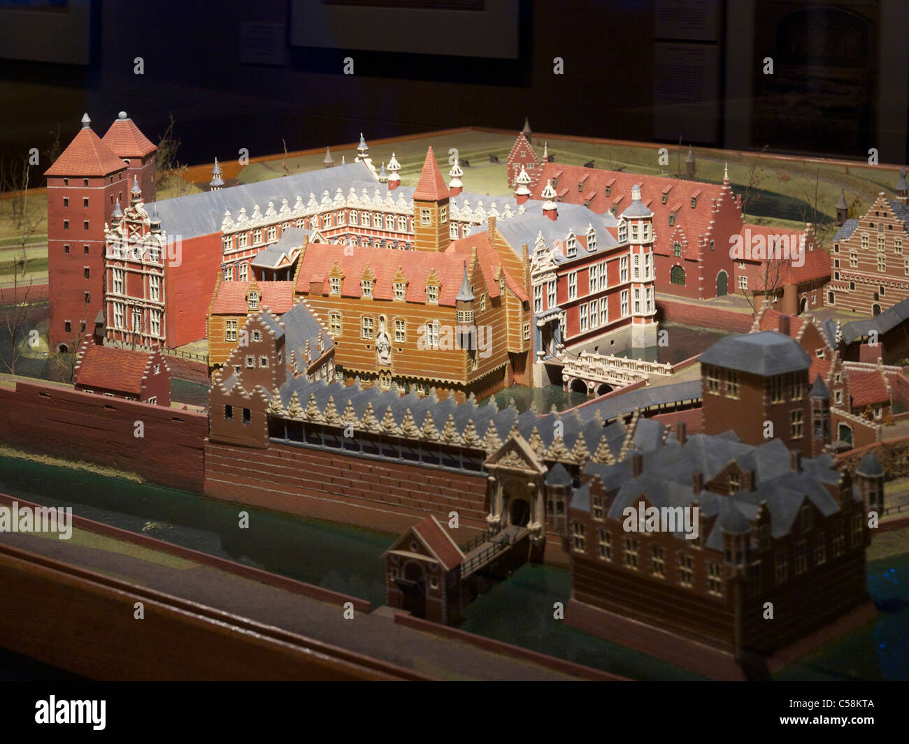 Scale model of the castle of Breda as it looked during the 80-year war period. - Stock Image