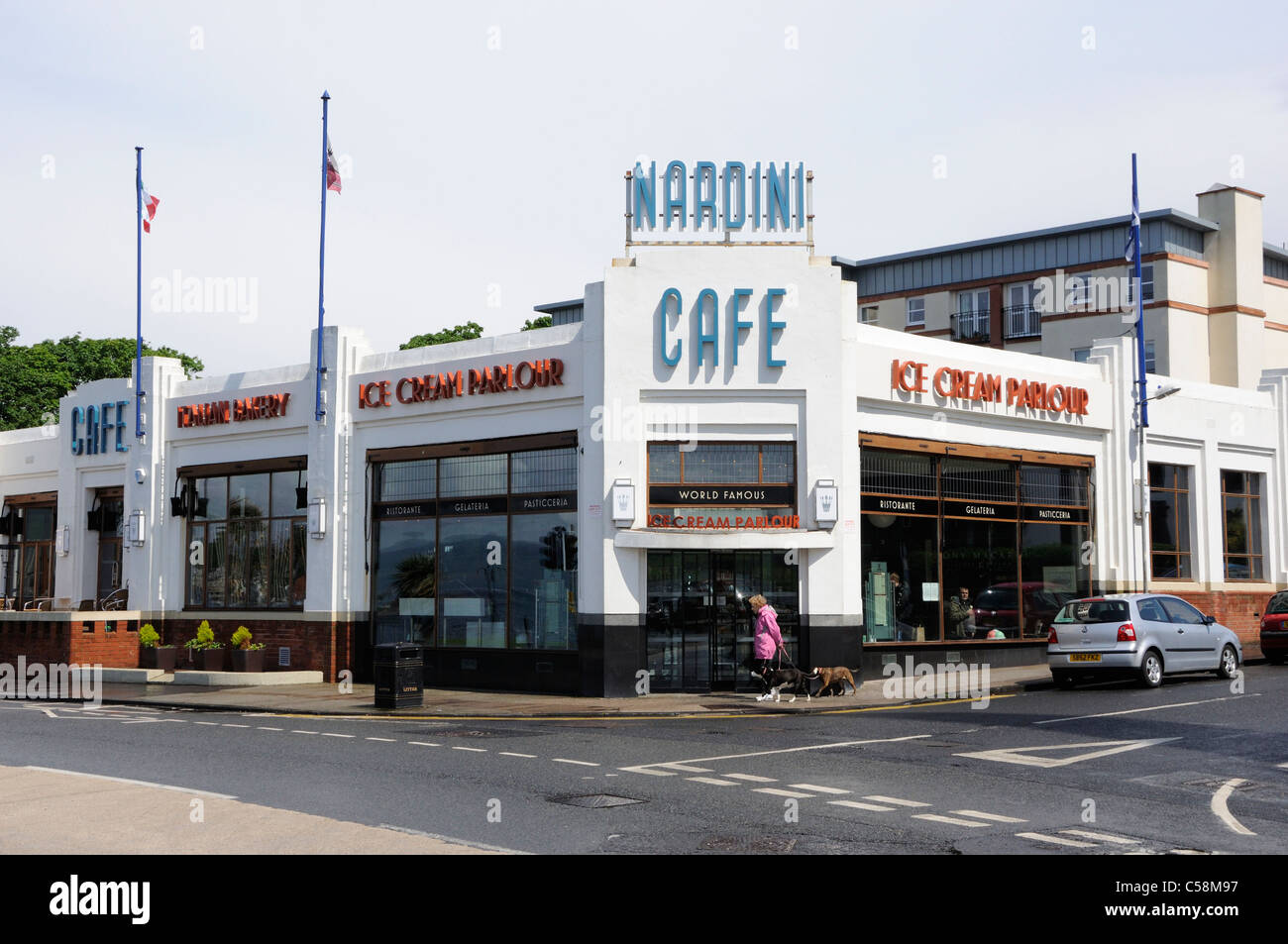 Nardini's Cafe, Largs - Stock Image