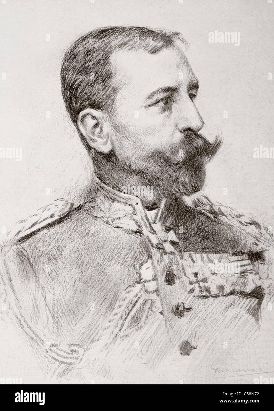 Friedrich Adolf Julius von Bernhardi, 1849 – 1930. Prussian general and military historian. Stock Photo