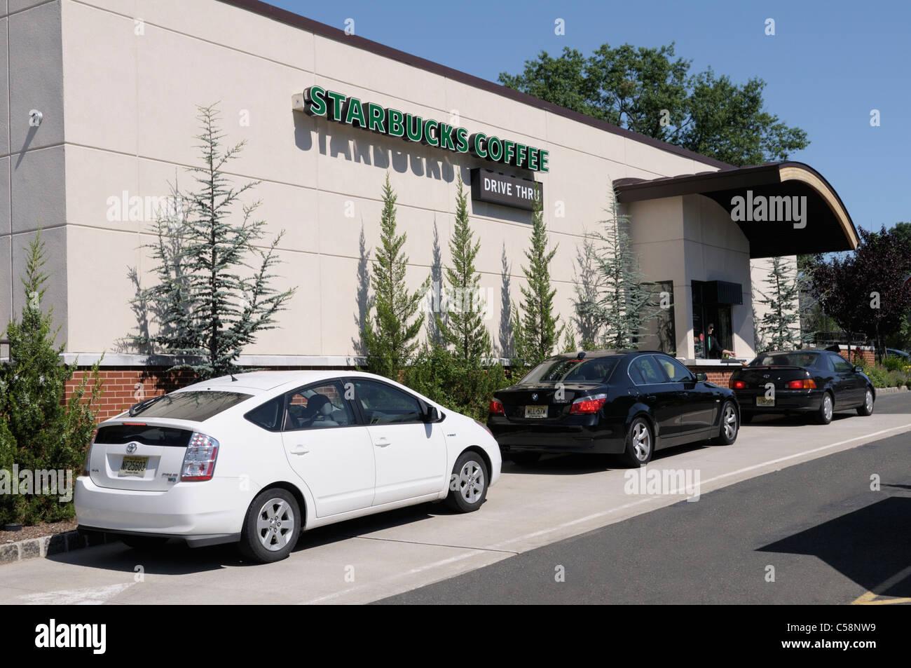 Toyota Drive Thru >> Starbucks Drive Thru Window Stock Photo 37686805 Alamy