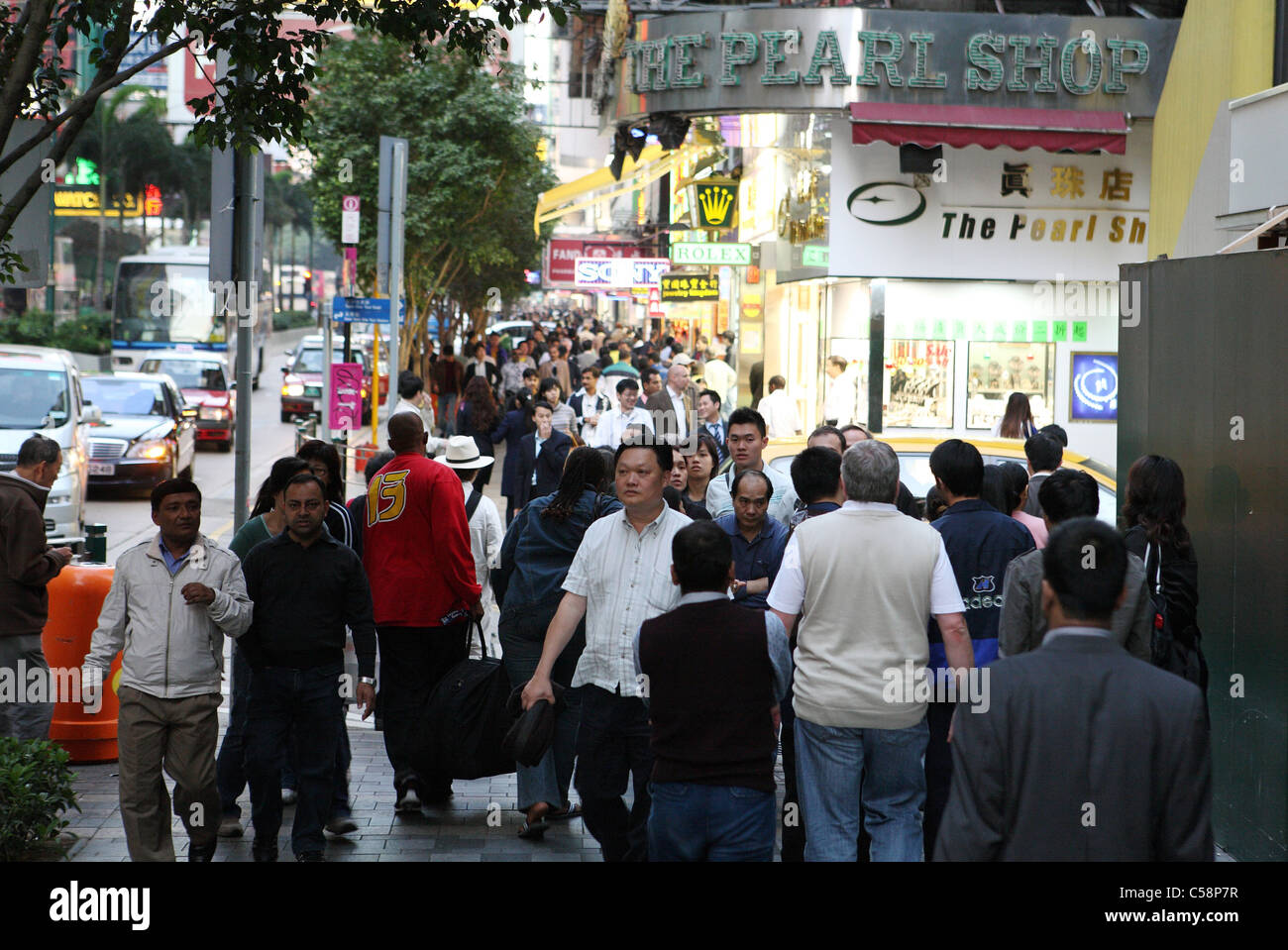 People on the Nathan Road, Hong Kong, China - Stock Image