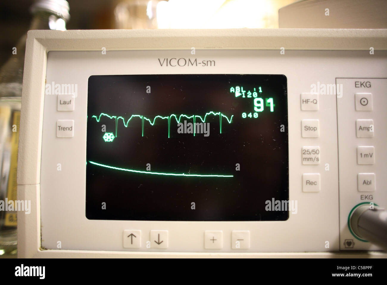 Monitor for monitoring vital signs - Stock Image