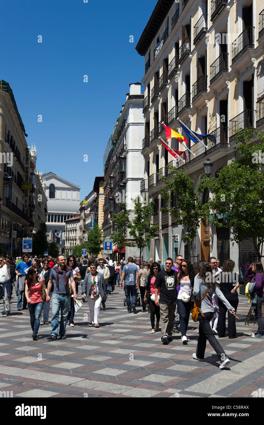 Calle del Arenal, Madrid, Spain - Stock Image