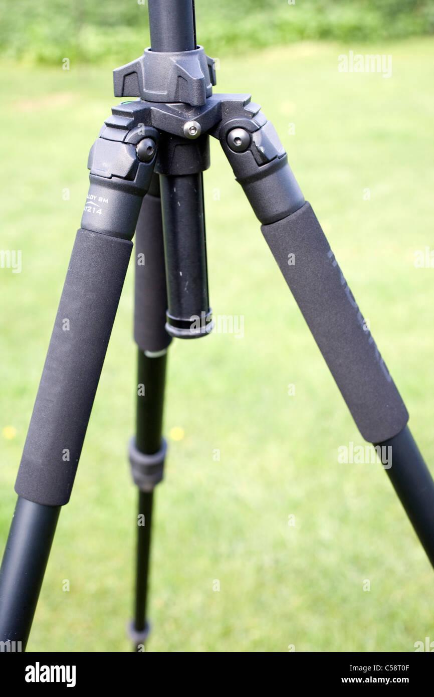 Tripod legs padded grips - Stock Image