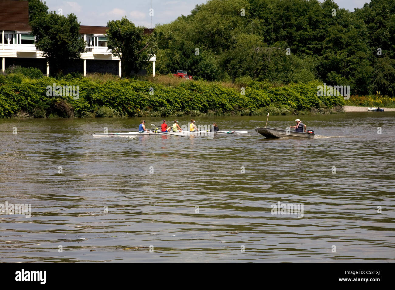 river thames chiswick london england - Stock Image
