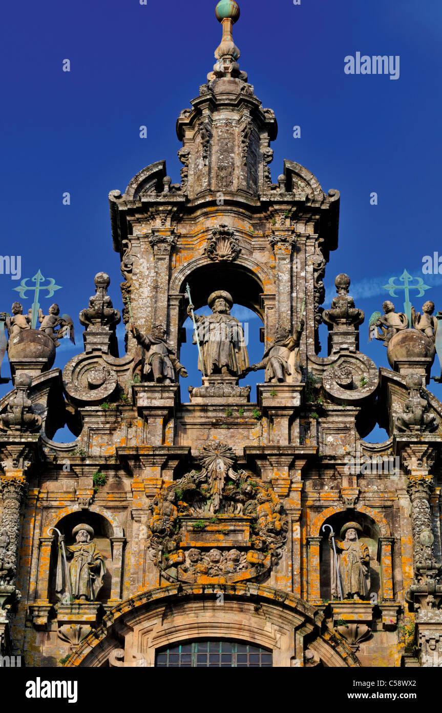 Spain, St. James Way: Cathedral of Santiago de Compostela Stock Photo