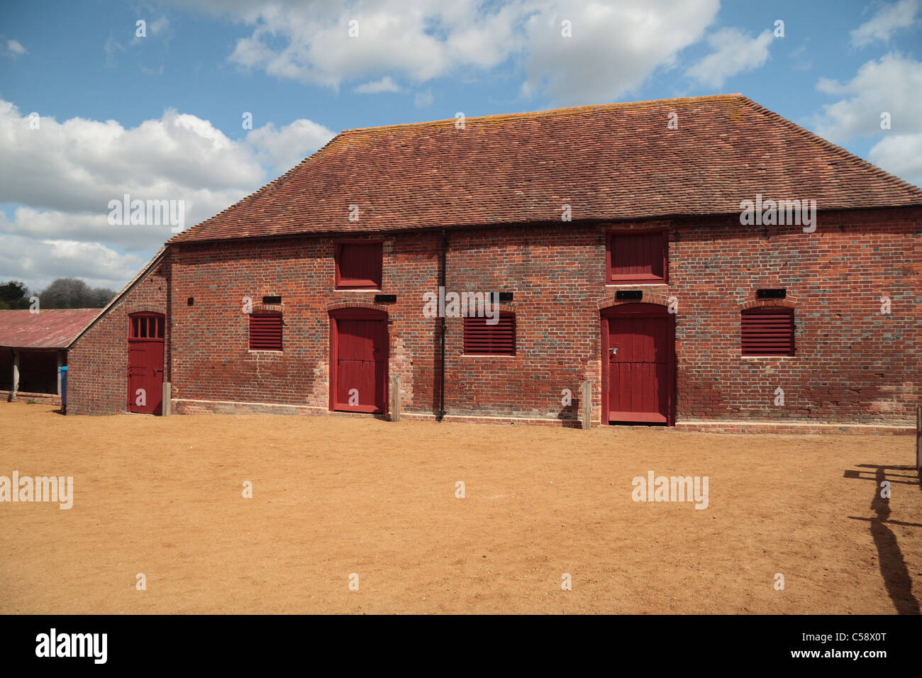Stables in the grounds of Basing House, Old Basing, Hampshire, UK. - Stock Image