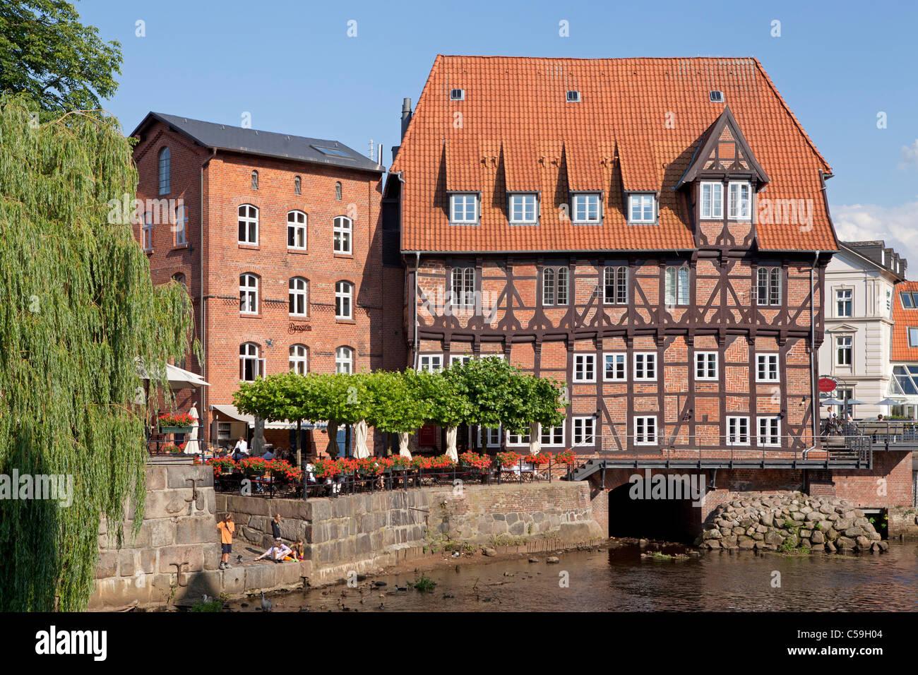 Restaurant 'Luener Muehle', Lueneburg, Lower Saxony, Germany - Stock Image
