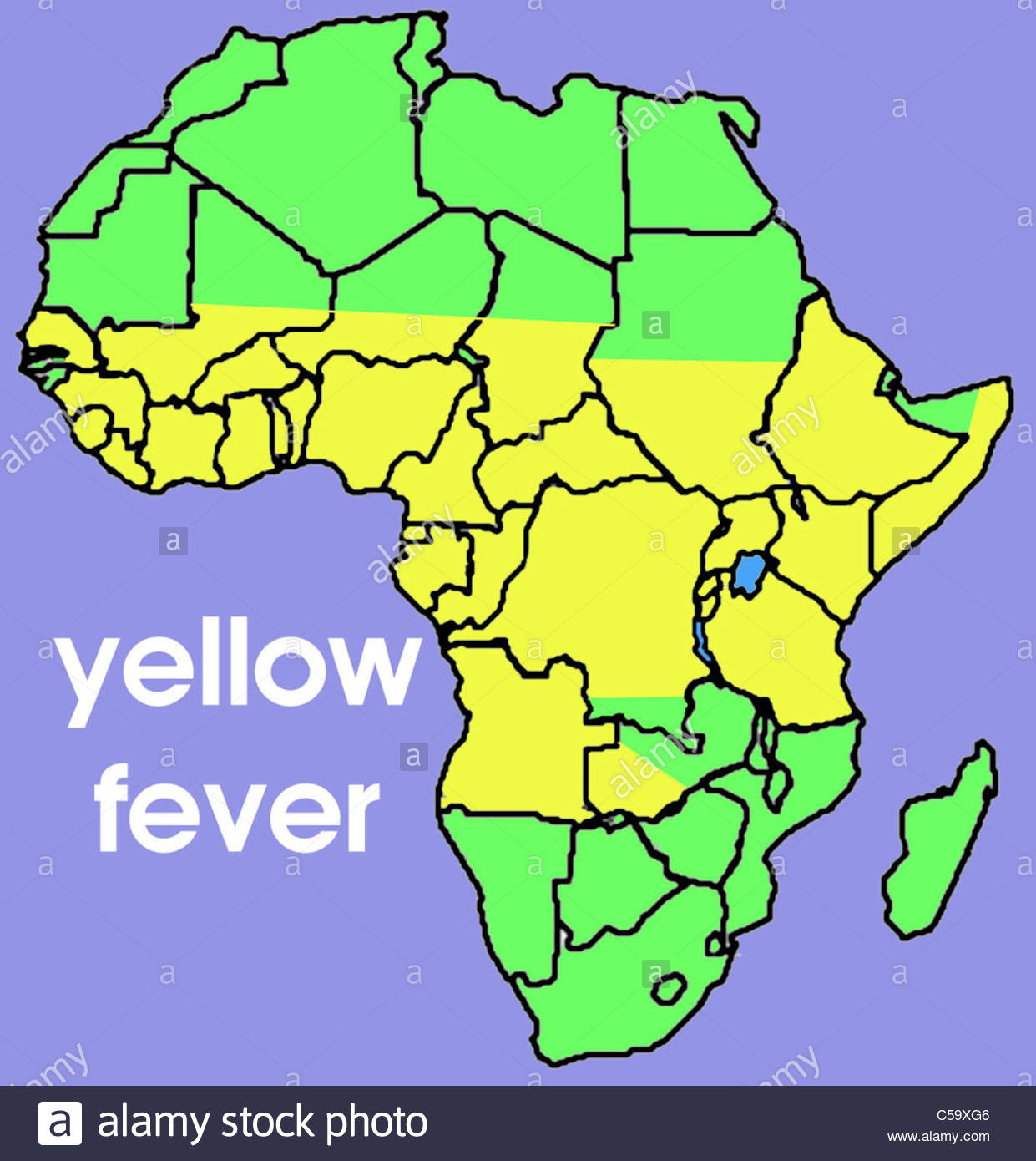 Yellow Fever Map Africa