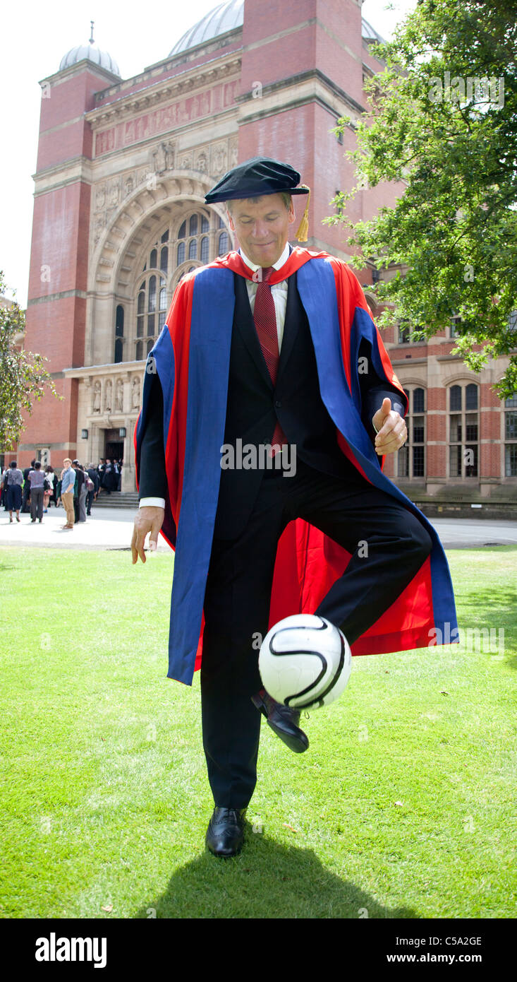 David Gill, chief executive of Manchester United Football Club gets his honorary degree from University of Birmingham, - Stock Image