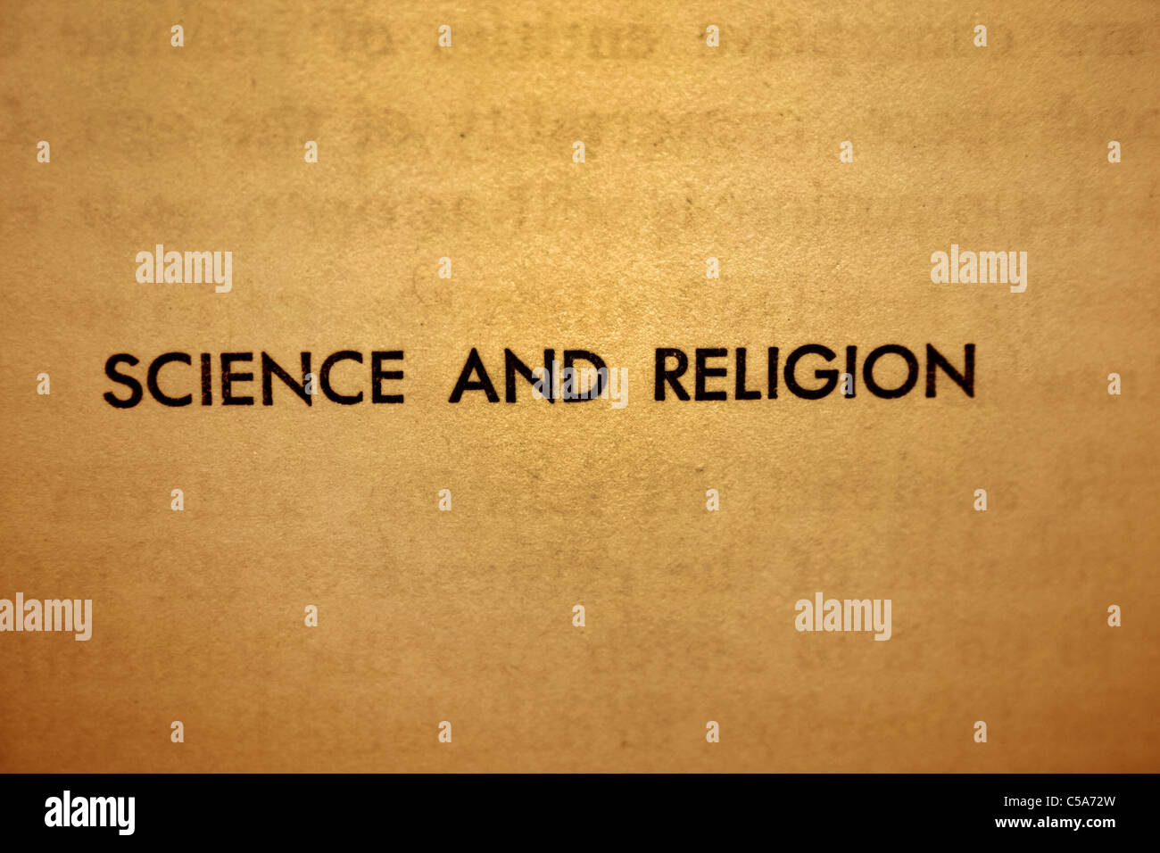 Science and religion - Stock Image