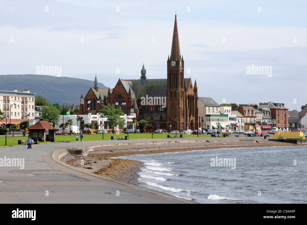 The town of Largs, Scotland - Stock Image