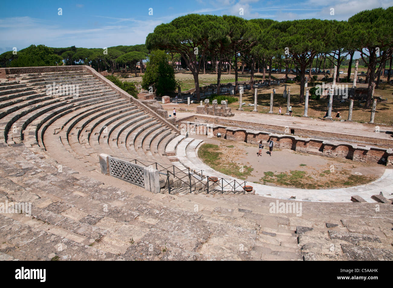The ruins of the ancient roman port of Ostia, nearby Rome. - Stock Image