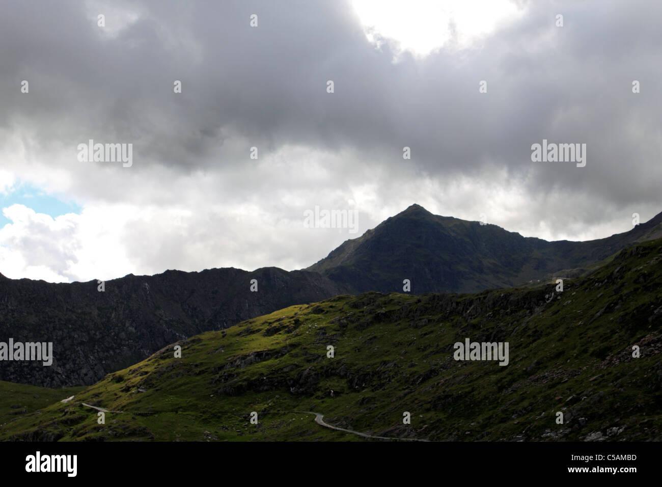 Mount Snowdon, Snowdonia National Park Wales UK - Stock Image