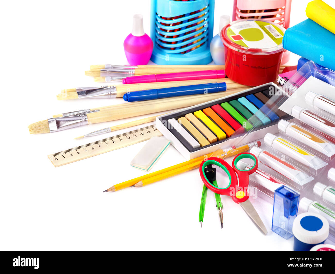 Group art school supplies writing utensils stock photo 37733528 group art school supplies writing utensils voltagebd Images