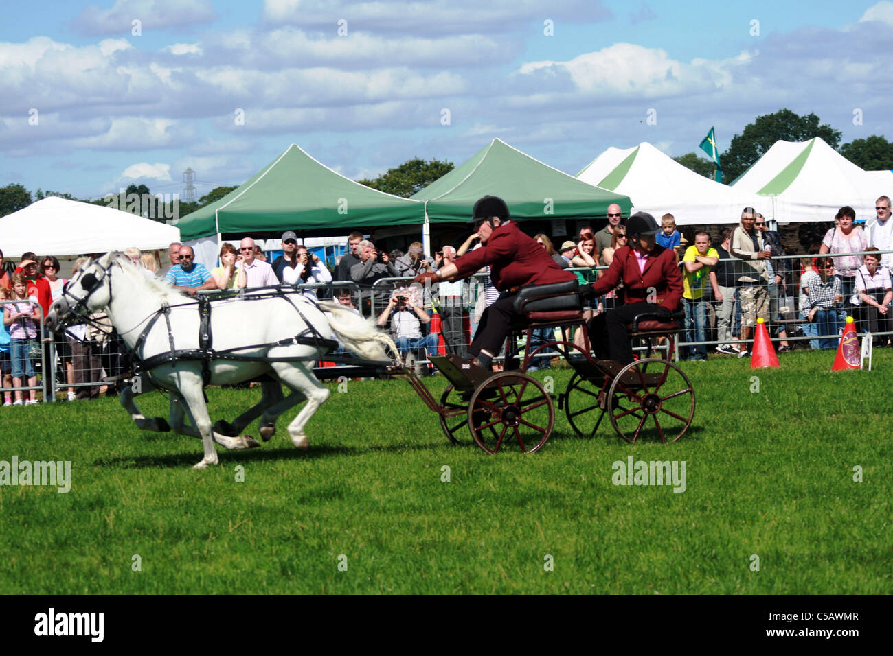 Scurry racing at Cheshire game and country show at Cheshire Show Ground Tabley Cheshire England Stock Photo