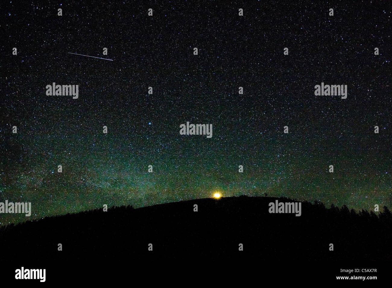 Star filled sky near Monarch Pass, Sawatch Range, Chaffee County, Colorado, USA. - Stock Image