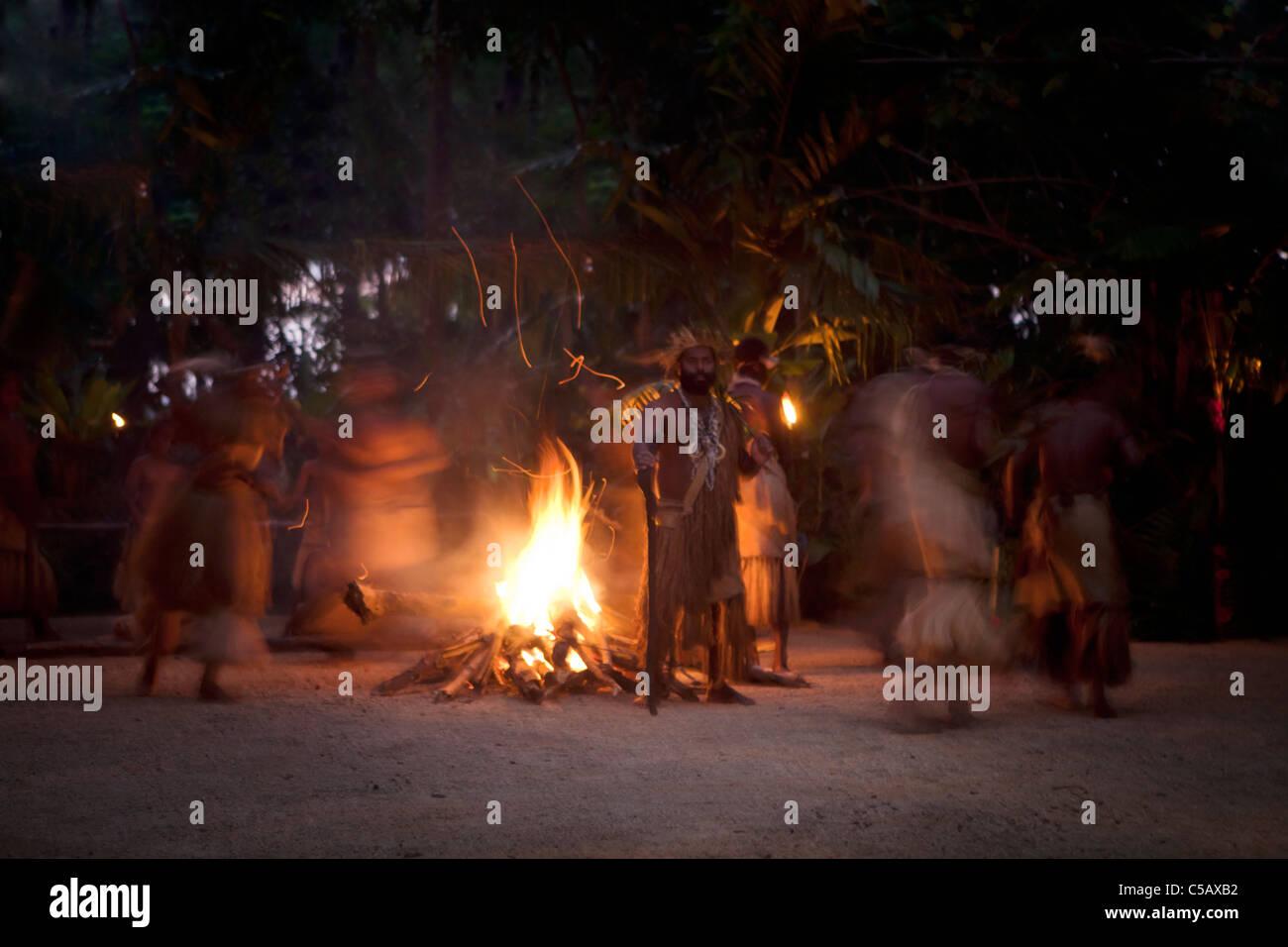 Local ceremonies performed by the indigenous people of Vanuatu - Stock Image