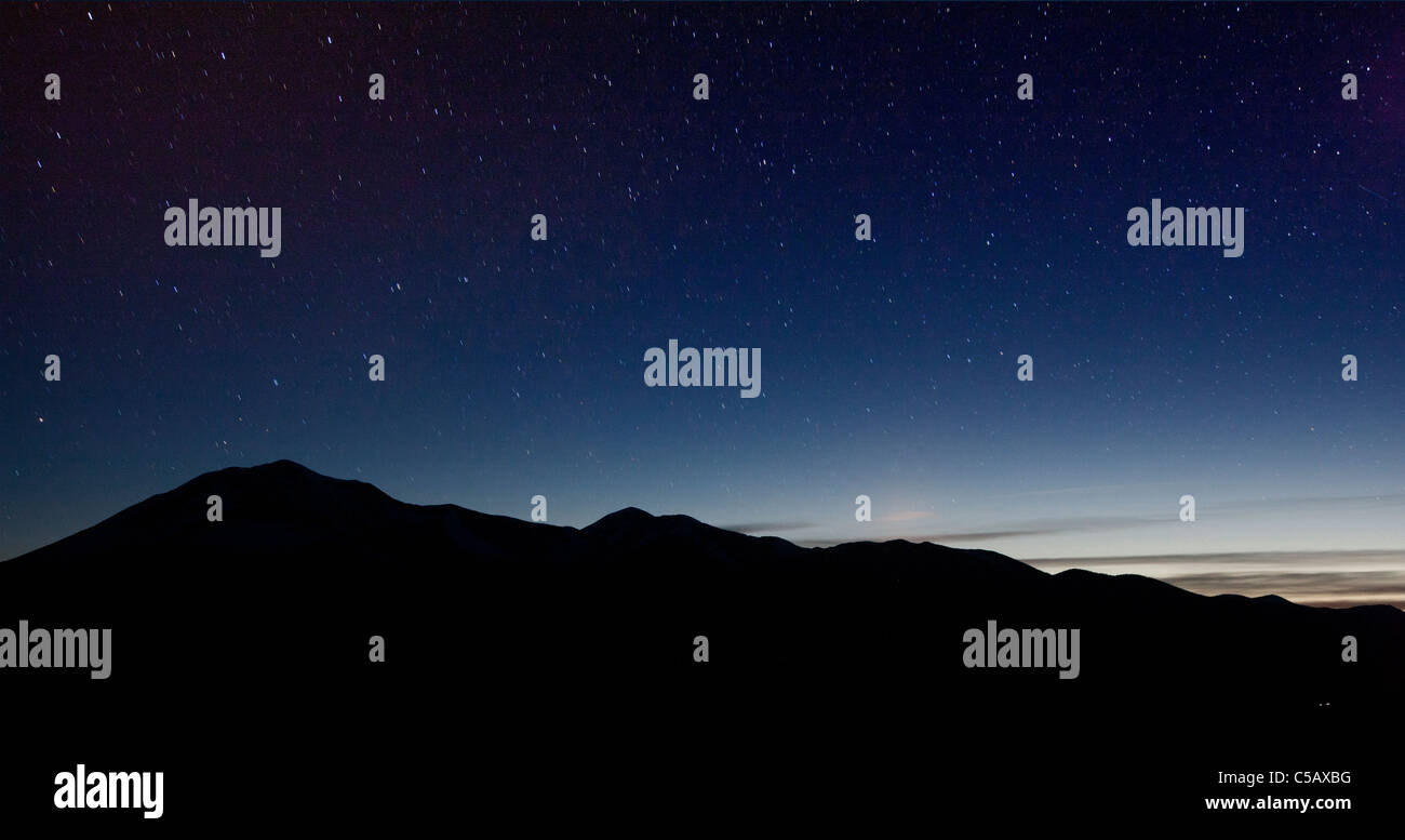 Star filled sky from Poncha Pass, Chaffee County, Colorado, USA. - Stock Image