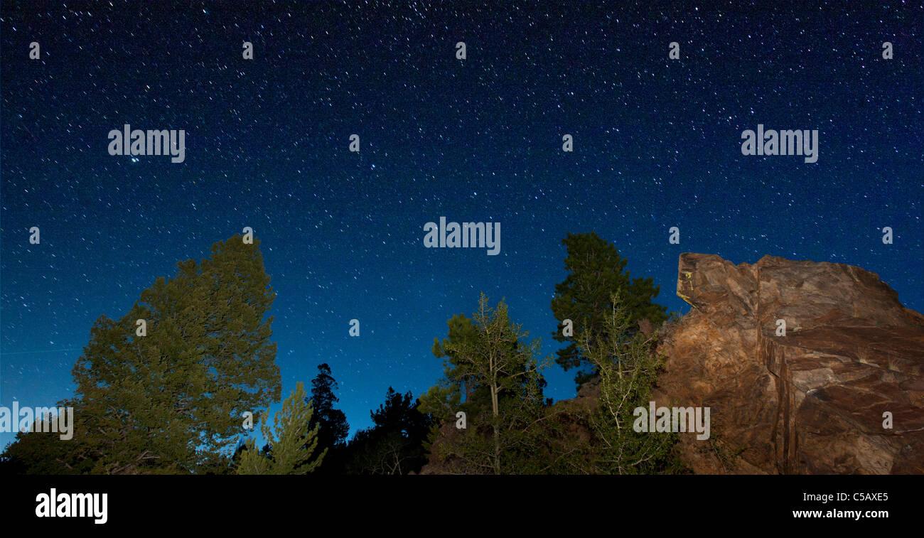 Star filled sky from Marshall Pass, Sawatch Range, Chaffee County, Colorado, USA. - Stock Image