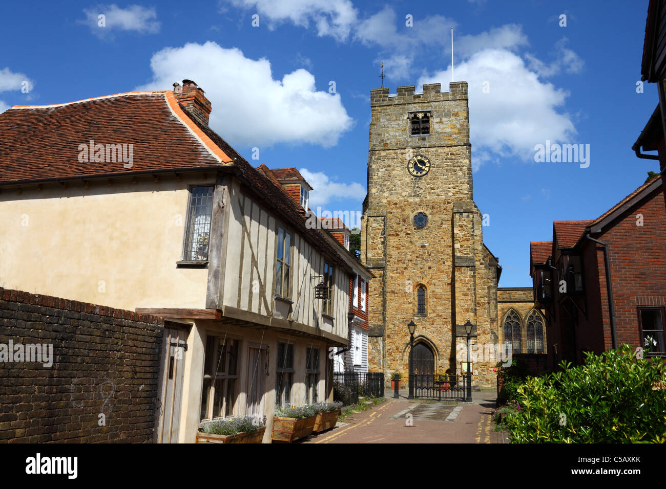 St Peter & St Paul parish church, Tonbridge, Kent, England - Stock Image