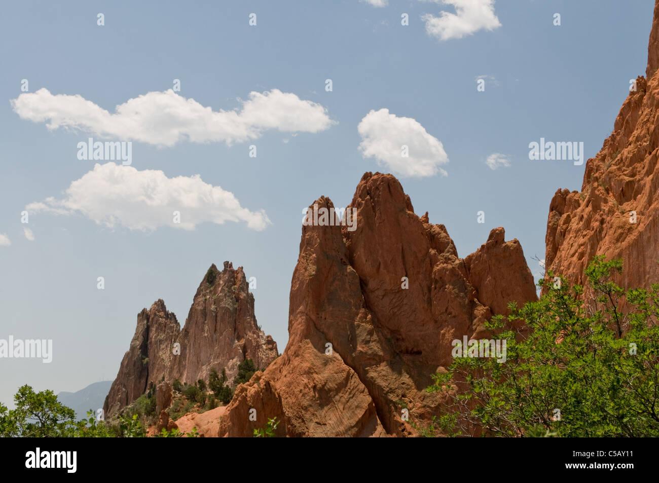 USA, Colorado, Colorado Springs, Garden of the Gods, rock formations - Stock Image