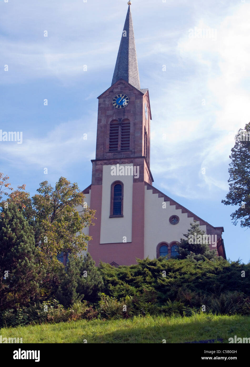 Kirche in Sasbachwalden, Schwarzwald, church in Sasbachwalden, Black Forest - Stock Image