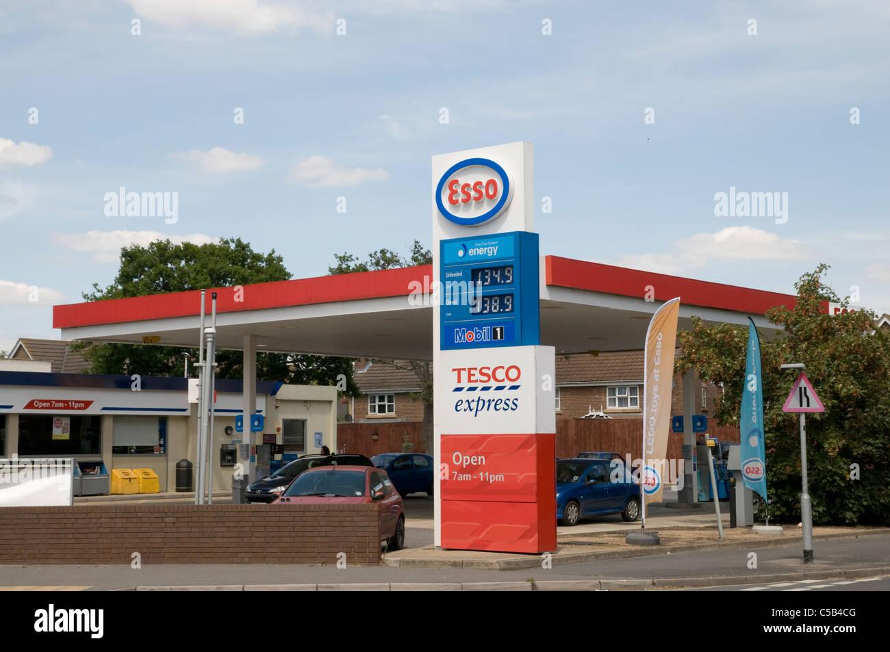 Esso petrol station 2011 - Stock Image