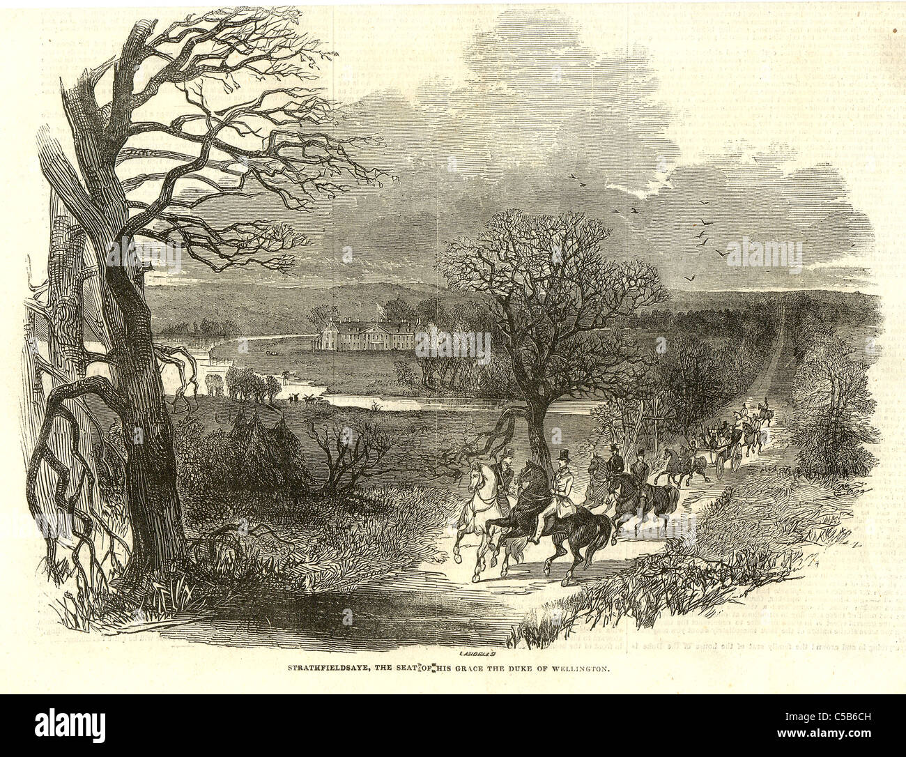 Strathfieldsaye, the seat of the Duke of Wellington - Stock Image