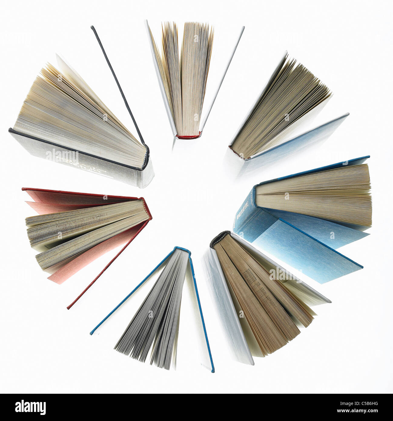 Elevated view of bookbook red - Stock Image