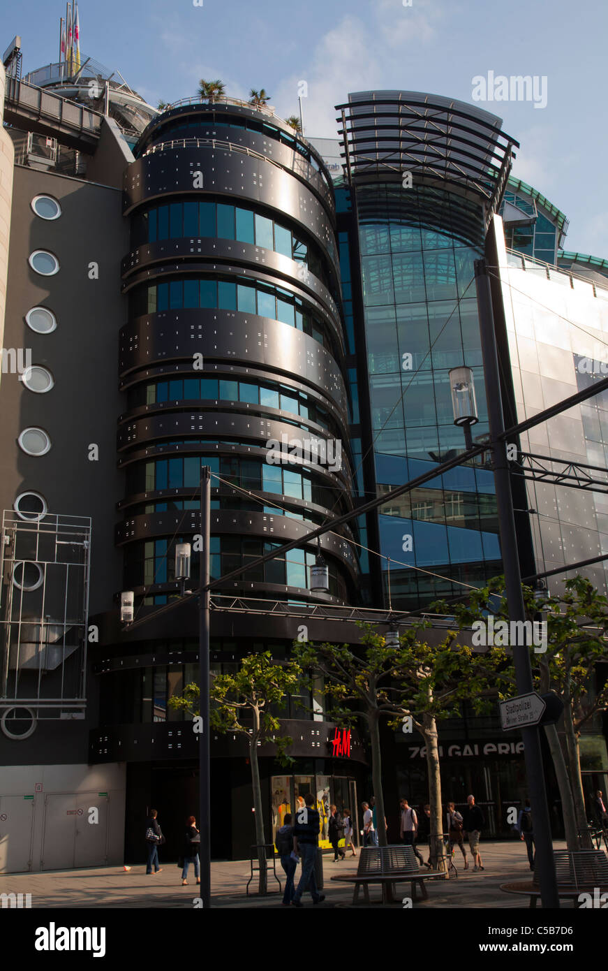 Frankfurt modern architecture shopping malls - Stock Image