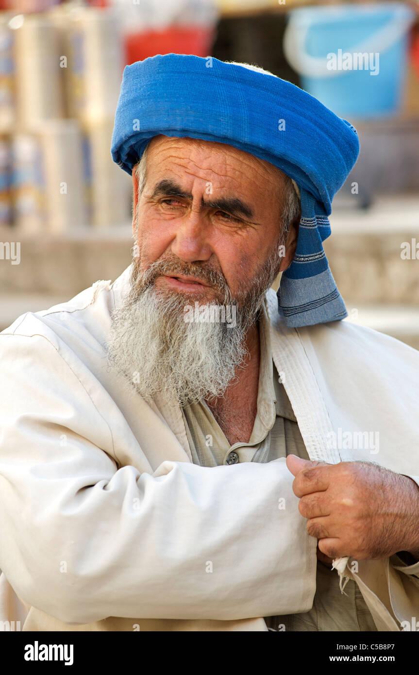 Tajik man, Samarkand, Uzbekistan - Stock Image