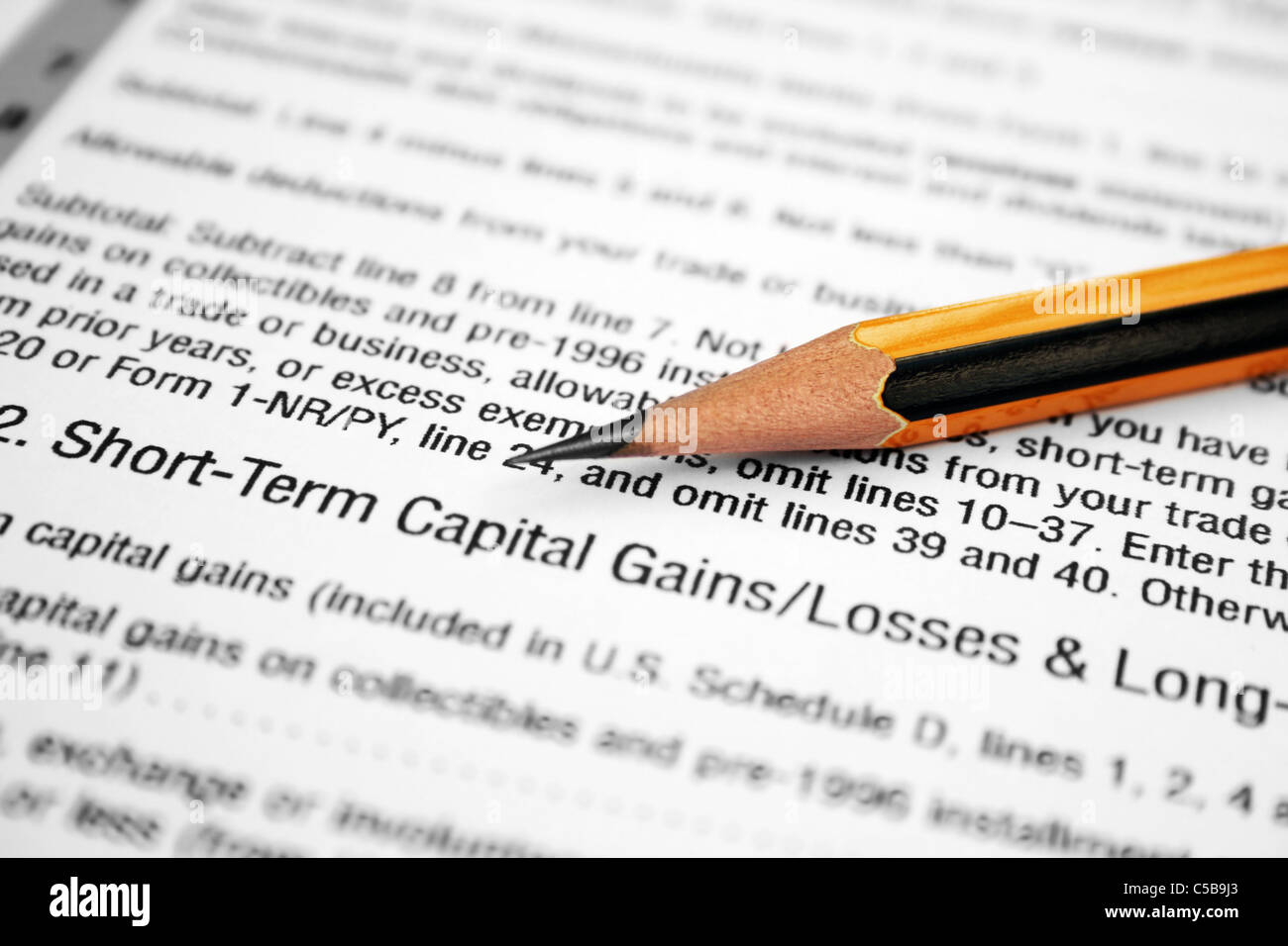 Capital Gains article Stock Photo