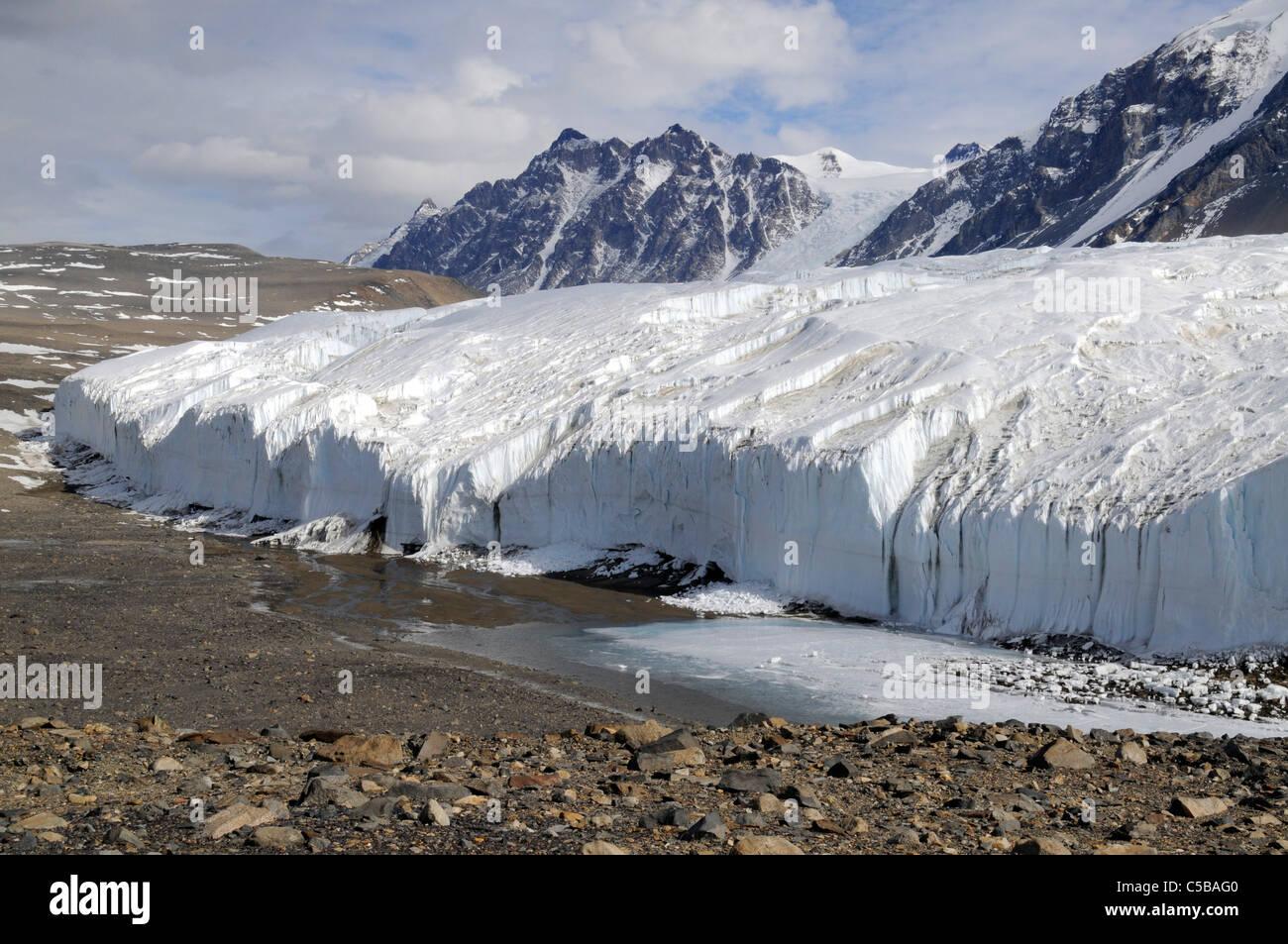 Canada Glacier, Taylor Valley, McMurdo Dry Valleys, Antarctica - Stock Image