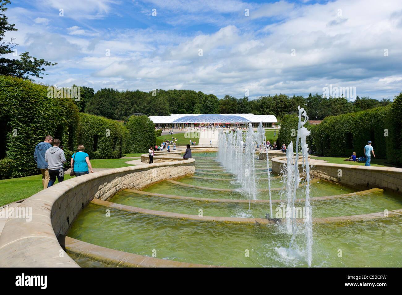 The Grand Cascade, The Alnwick Garden, Alnwick Castle, Alnwick, Northumberland, North East England, UK - Stock Image