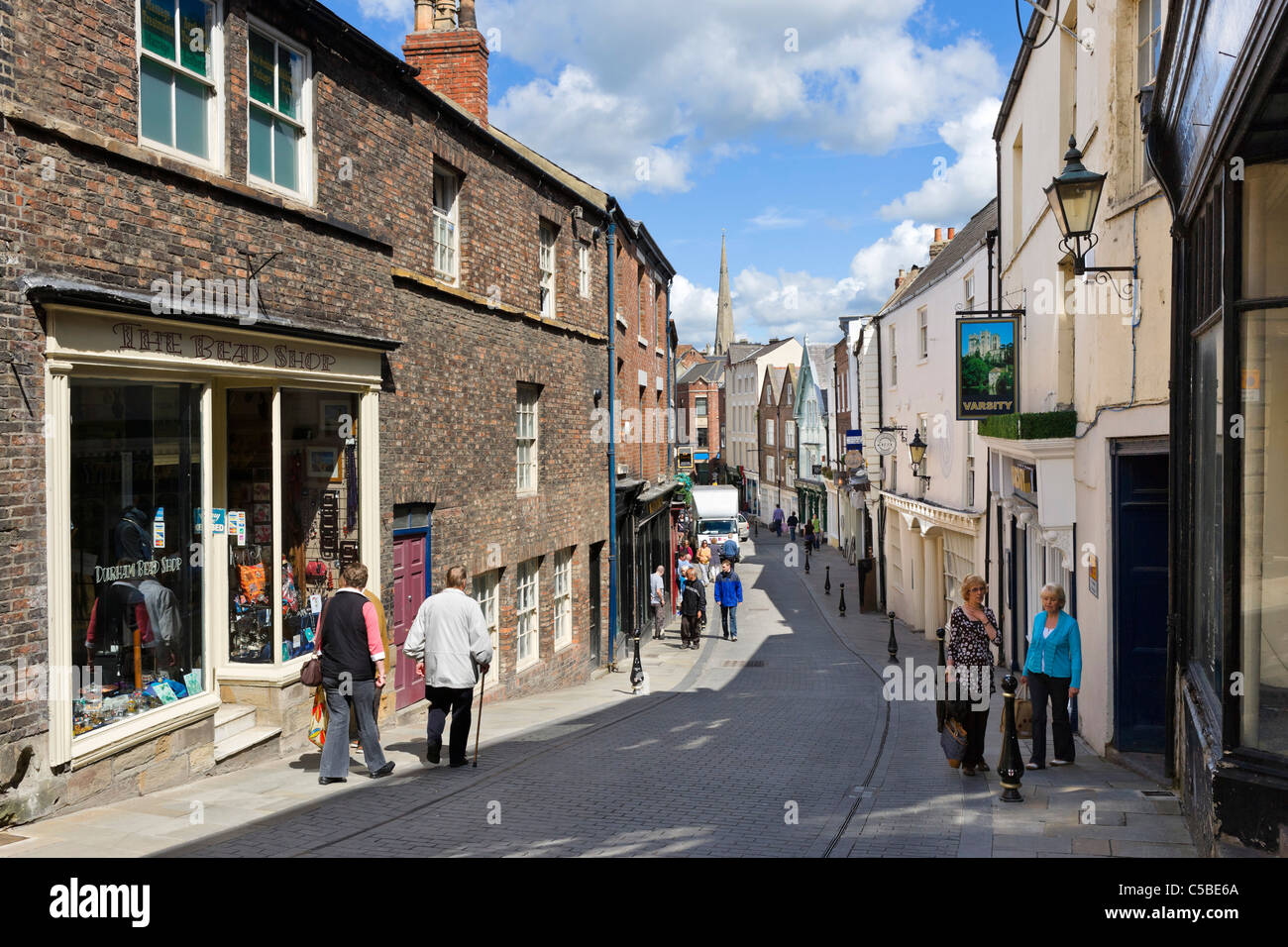 Shops On Saddler Street In The City Centre Durham County Durham