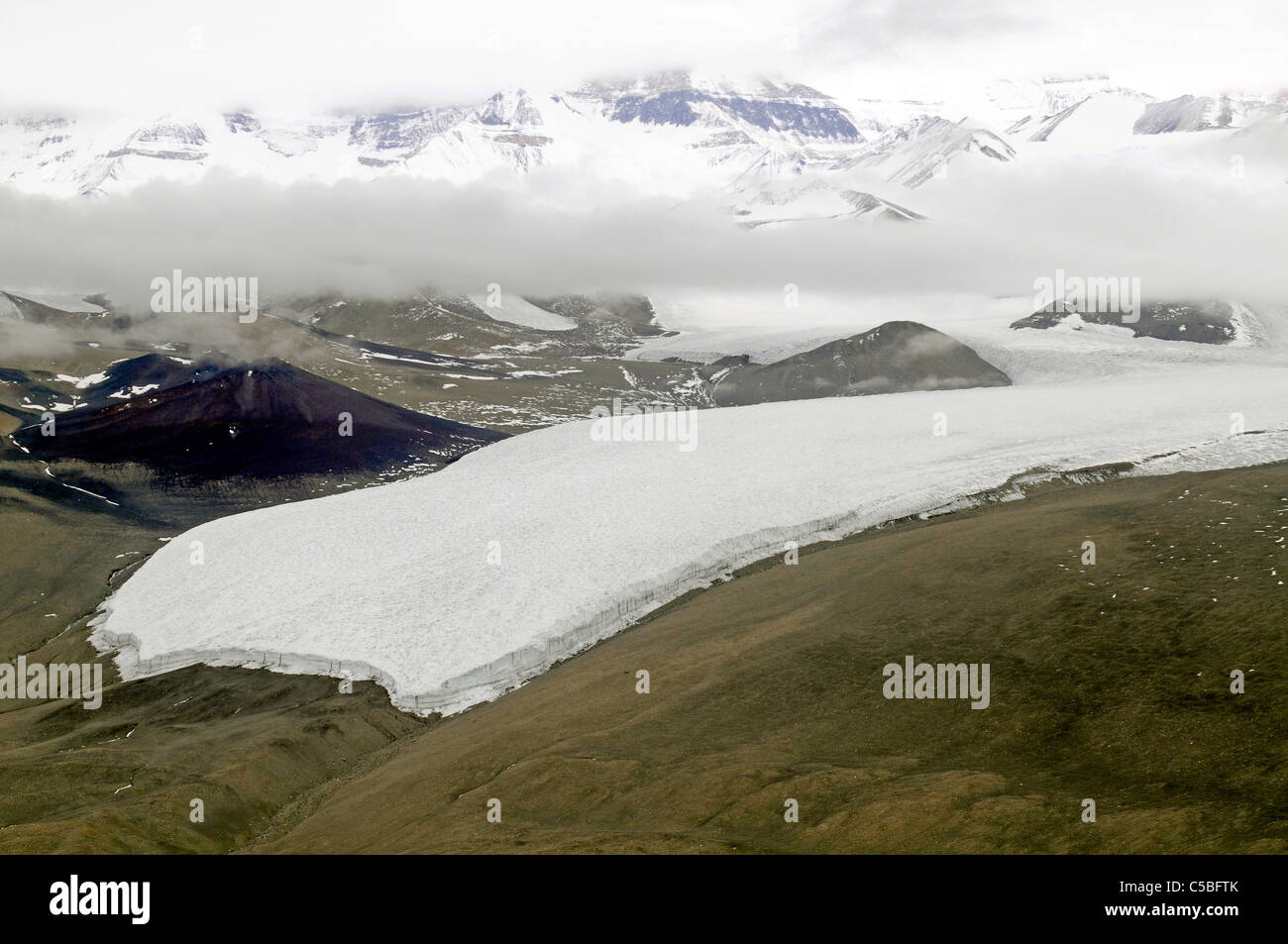 Glacier in Southern McMurdo Dry Valleys and Royal Society Range - Stock Image