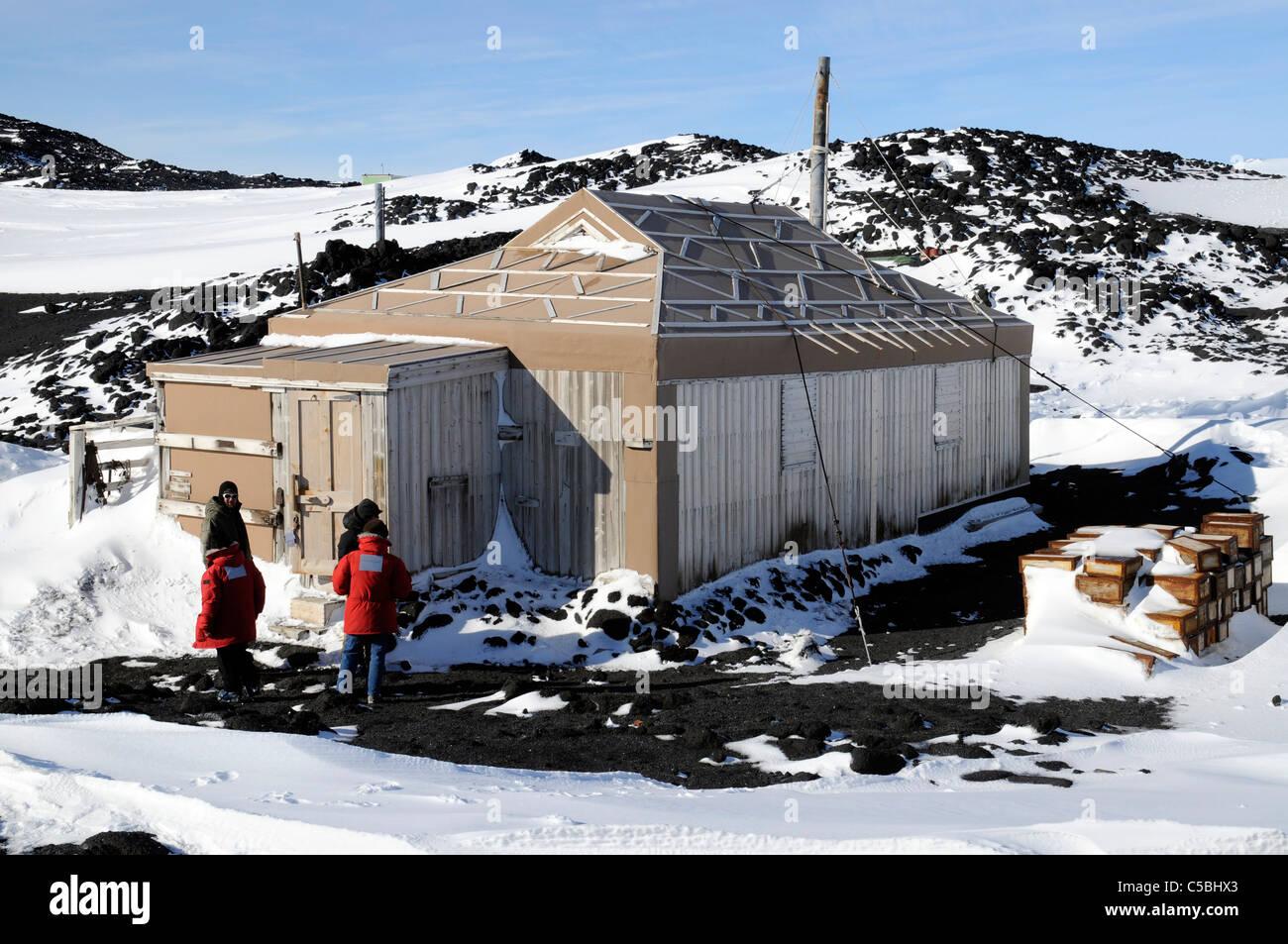 Historic Shackleton's Hut Cape Royds Antarctica - Stock Image