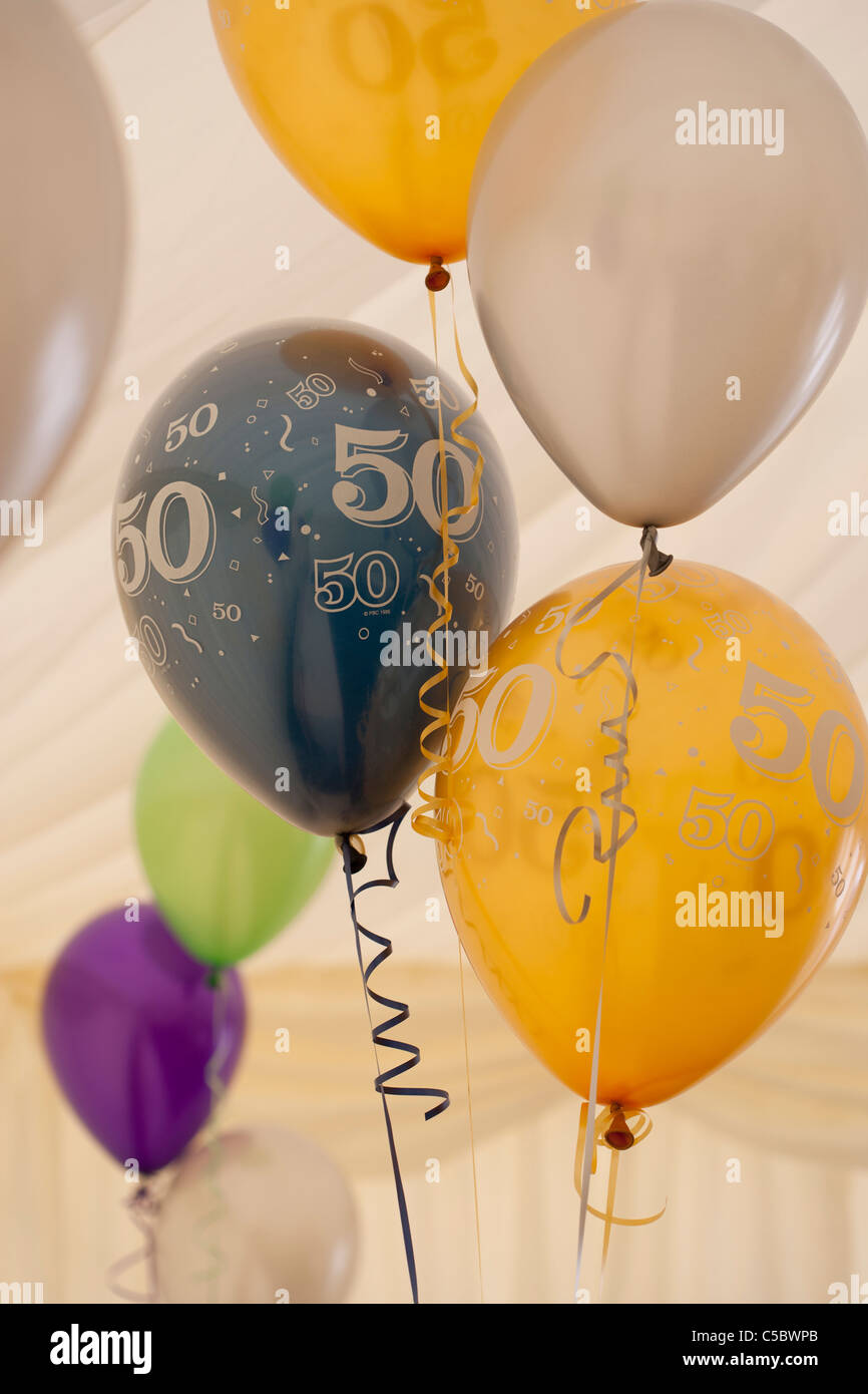50th Birthday Balloons Stock Photos