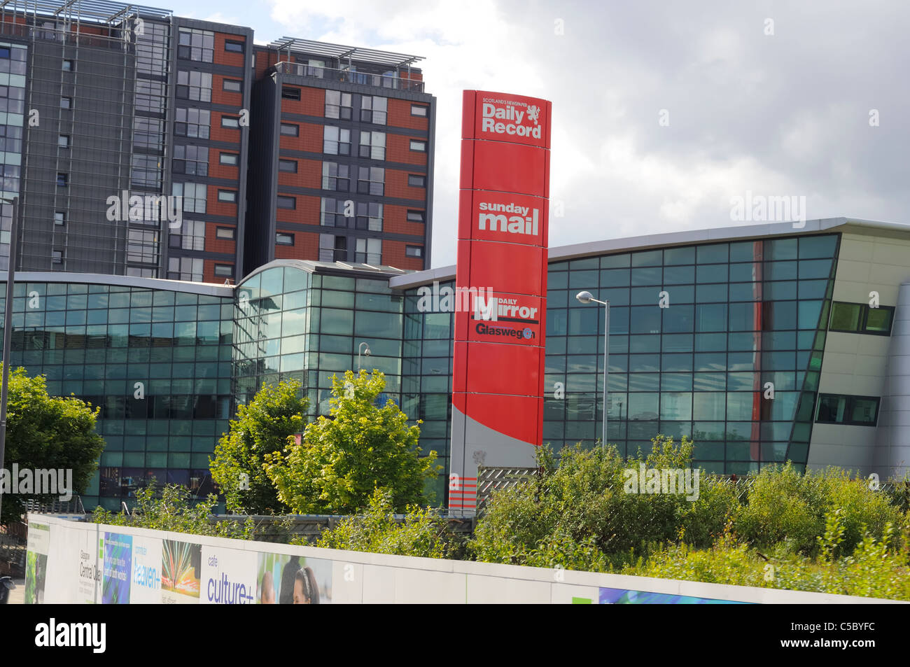 Daily Record Newspaper Building At Central Quay, Glasgow Scotland - Stock Image