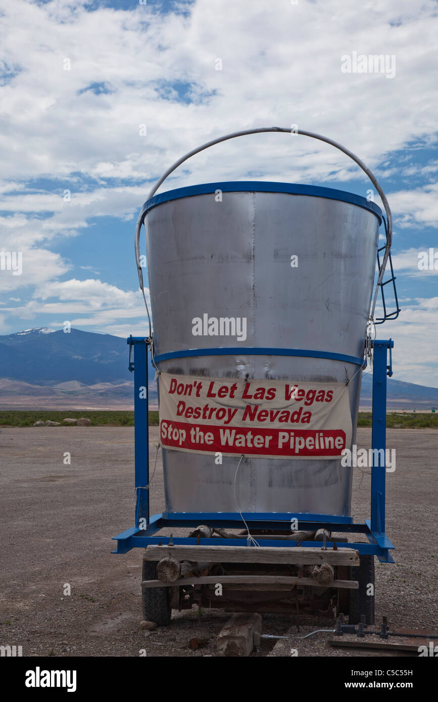 Nevada Ranchers Oppose Las Vegas Water Pipeline - Stock Image